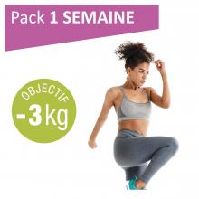Pack 1 semaine, objectif 3kg